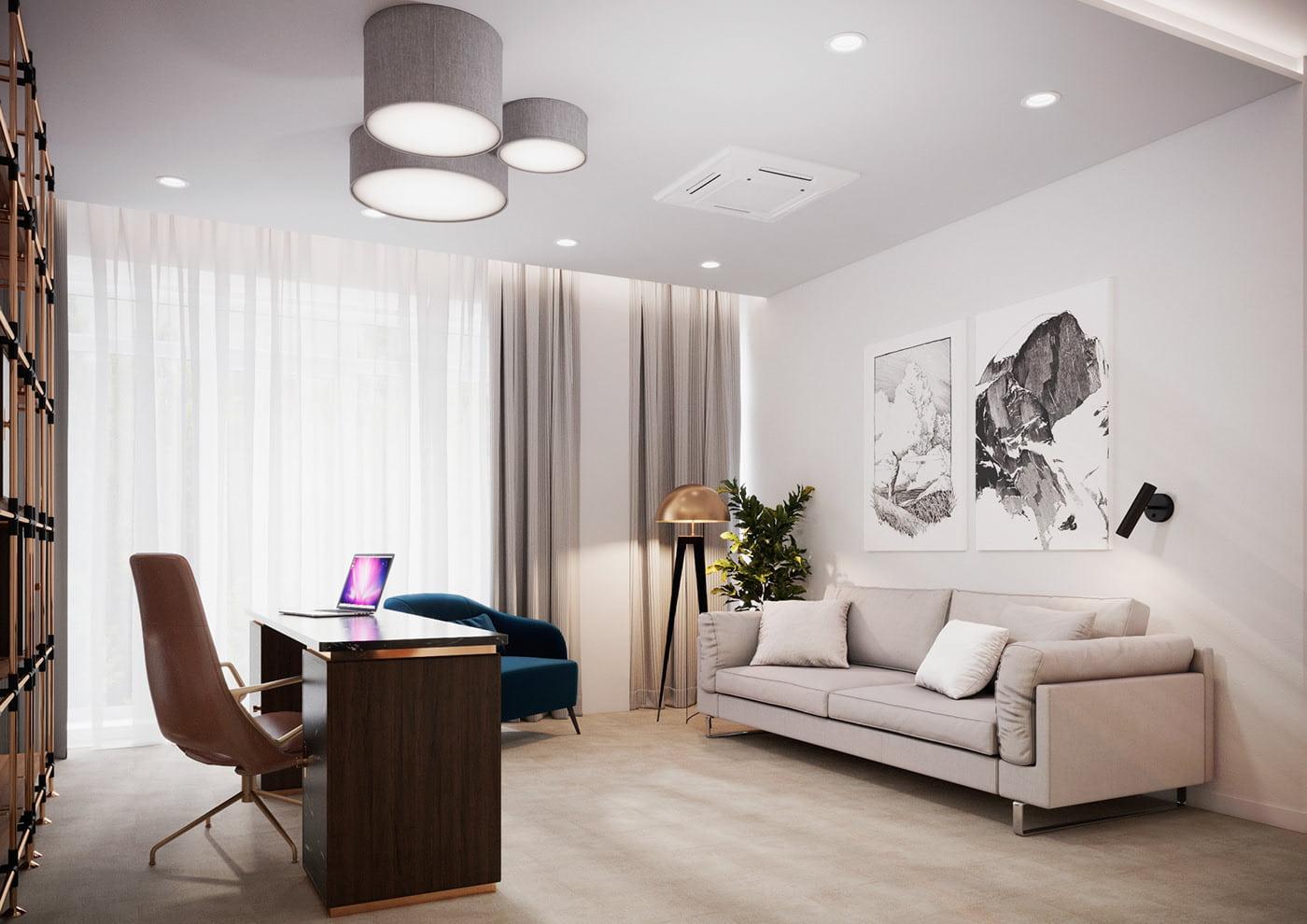 интерьер современной гостиной 41