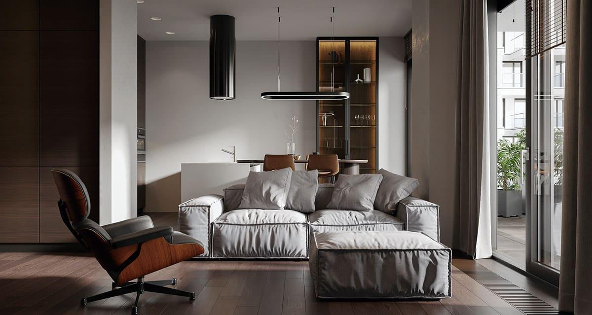 интерьер современной гостиной 54