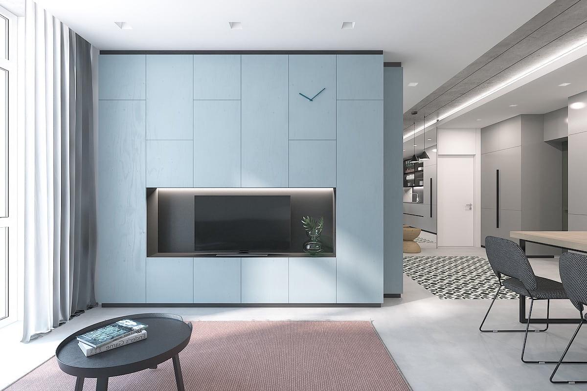 интерьер современной гостиной 26