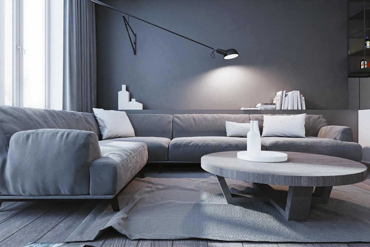 интерьер современной гостиной 28