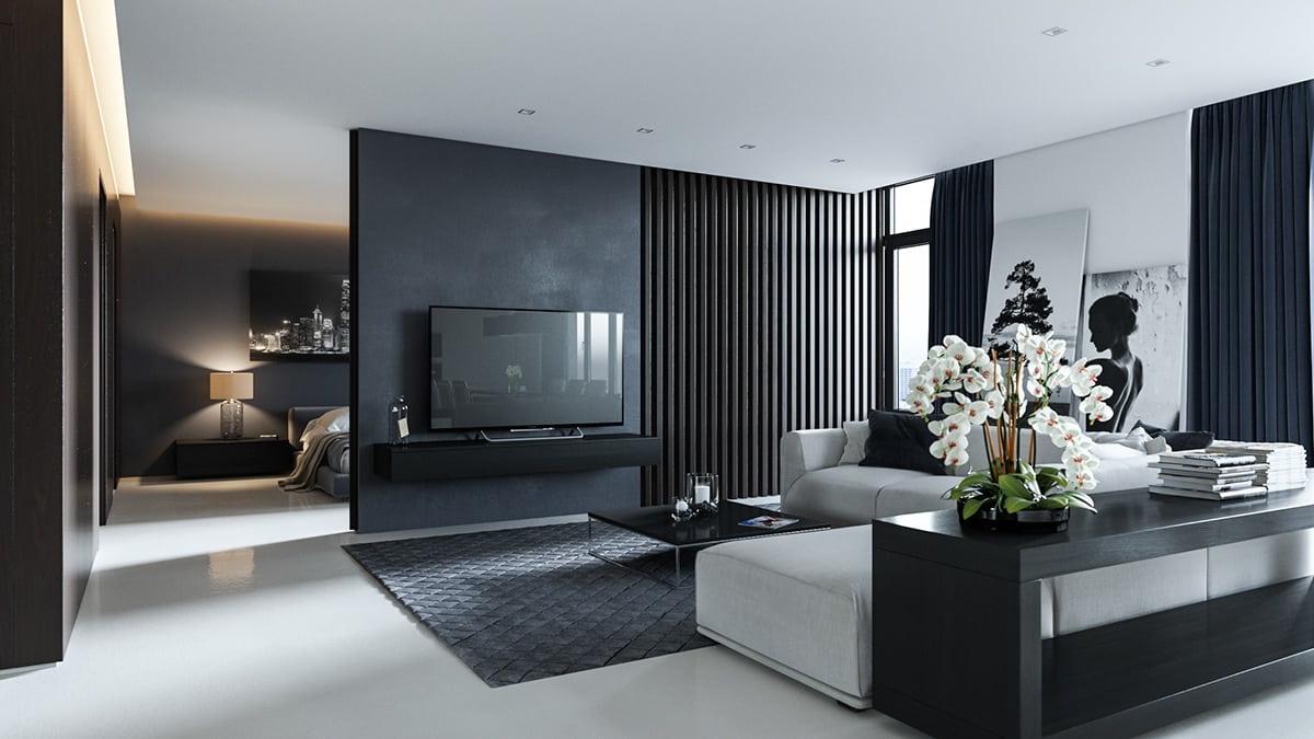 интерьер современной гостиной 29