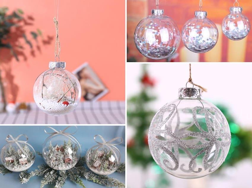 Праздничными шарами можно украсить не только елку, но и декорировать ими интерьер комнаты