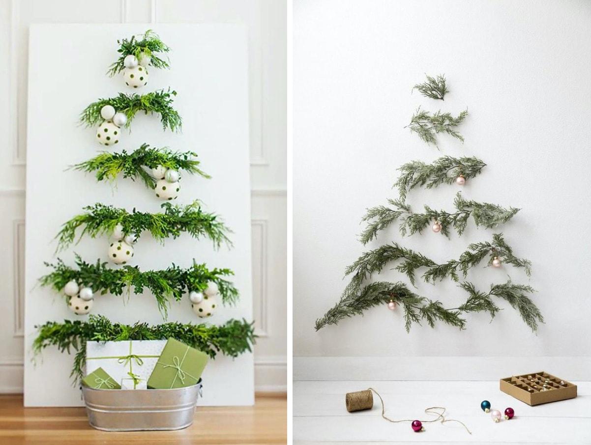 Эффектные новогодние елки из веток
