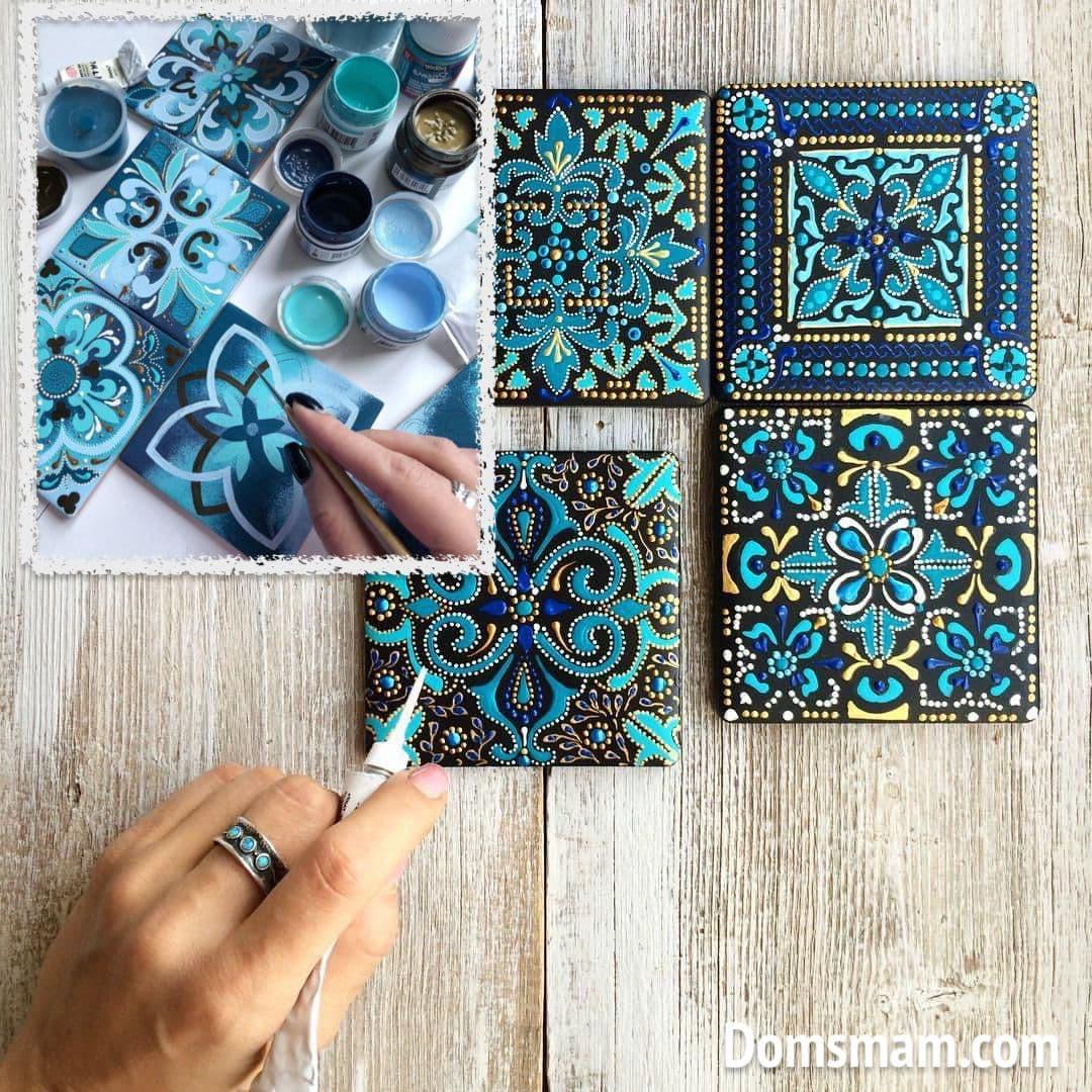 Роспись керамической плитки своими руками требует особых навыков и мастерства