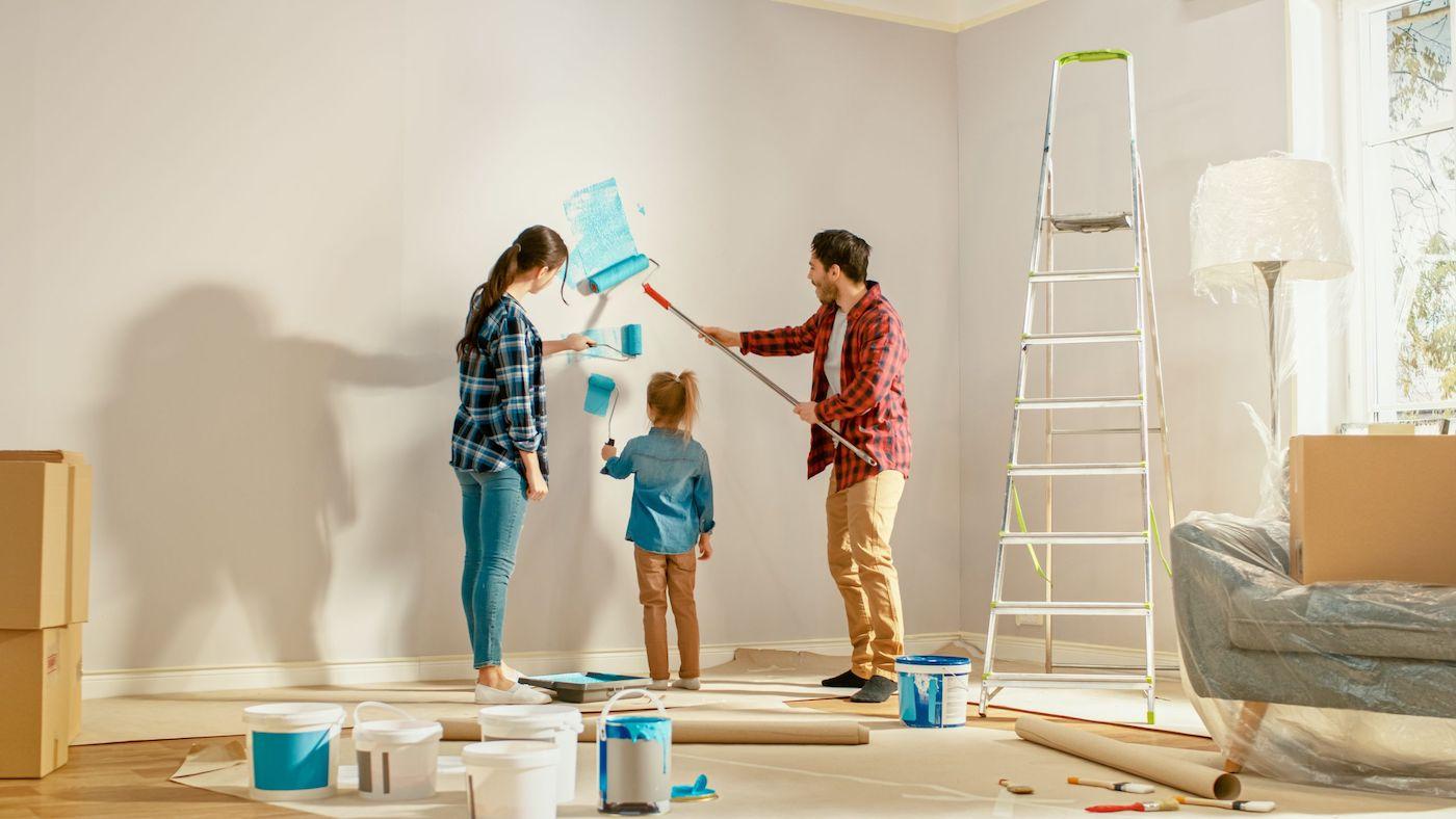 Покраска стен – простое и увлекательное занятие для всей семьи