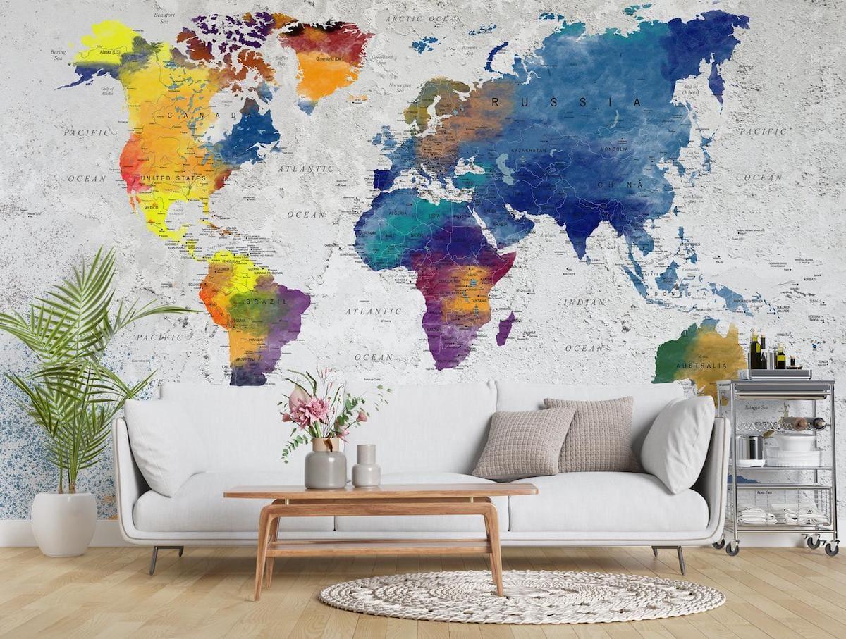 Учить географию в этой комнате можно прямо с дивана