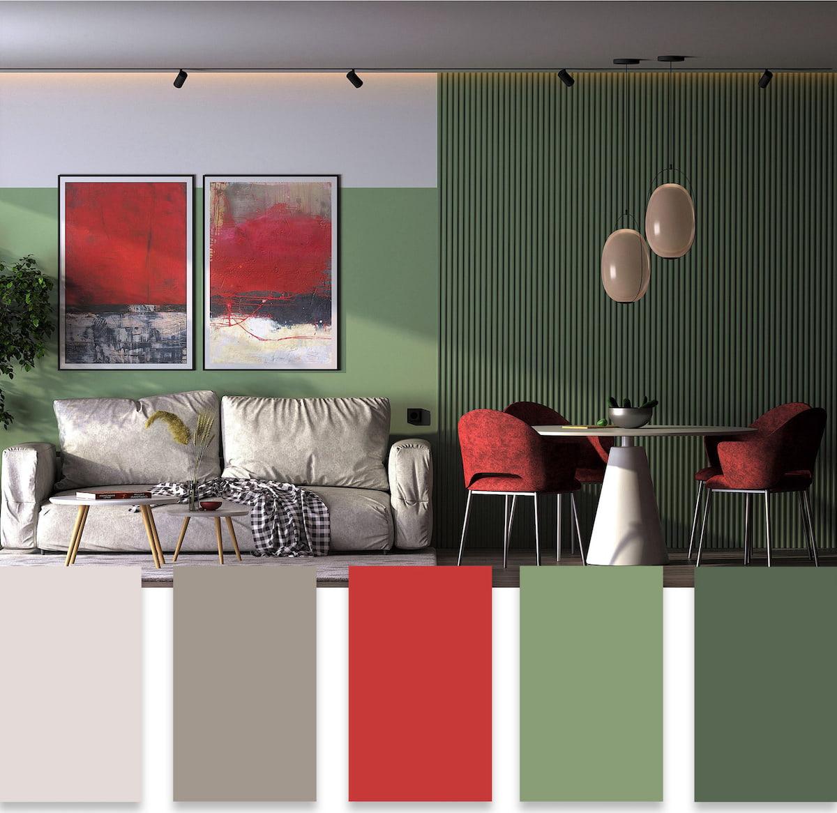 модные цвета в интерьере фото 33