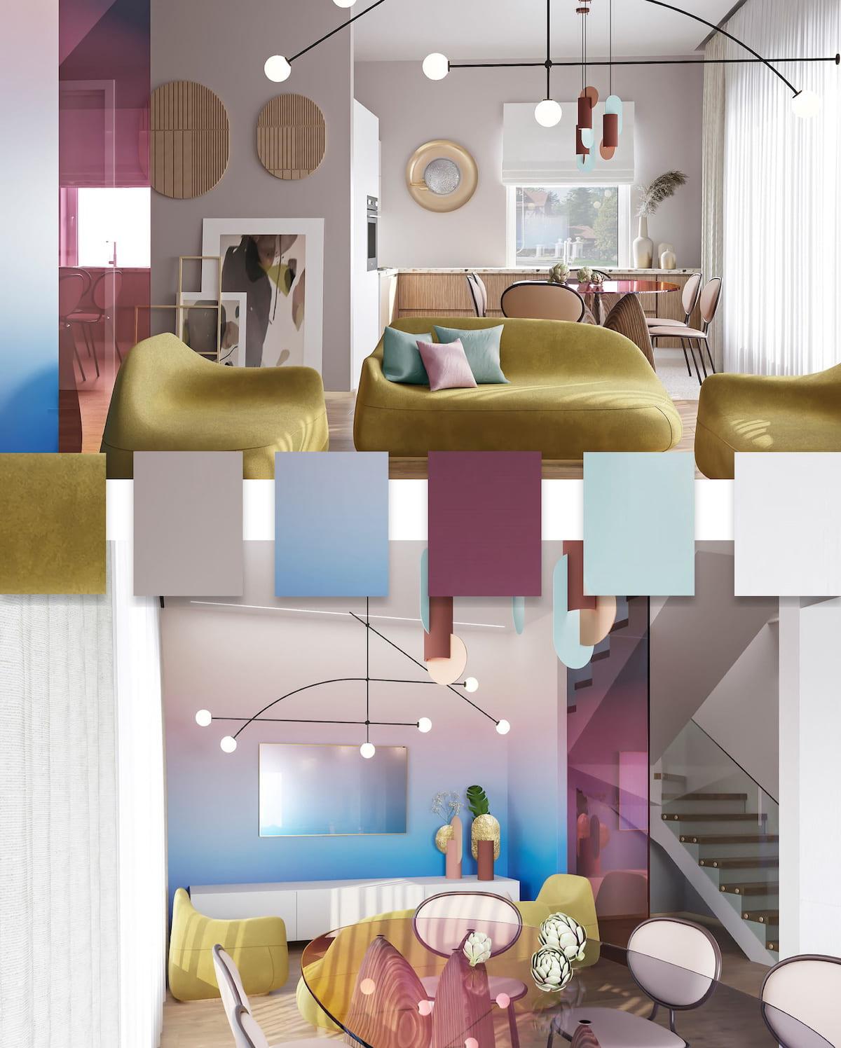 модные цвета в интерьере фото 35