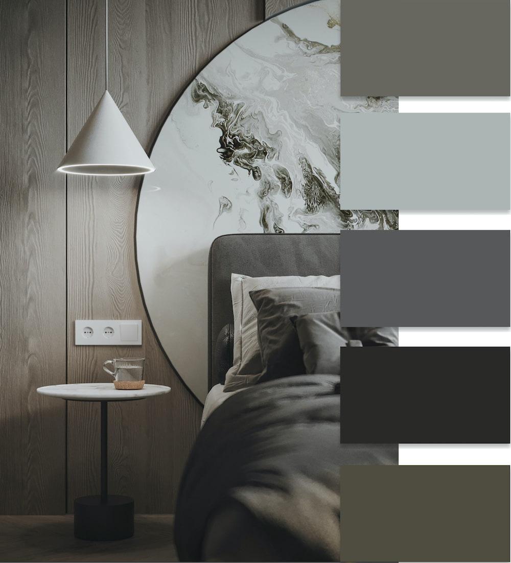 Красивый интерьер спальни в которой будет приятно засыпать после тяжелого рабочего дня