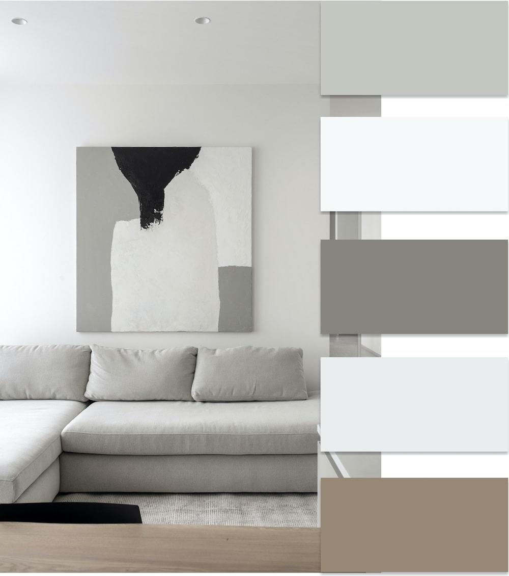 Красивый дизайн светлой комнаты в современном стиле