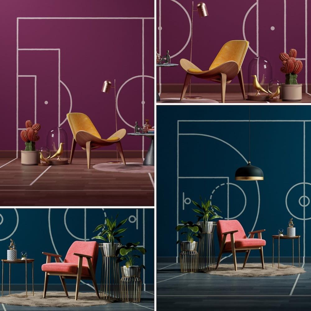 Один и тот же интерьер в разном цветовом исполнении может выглядеть совершенно иначе