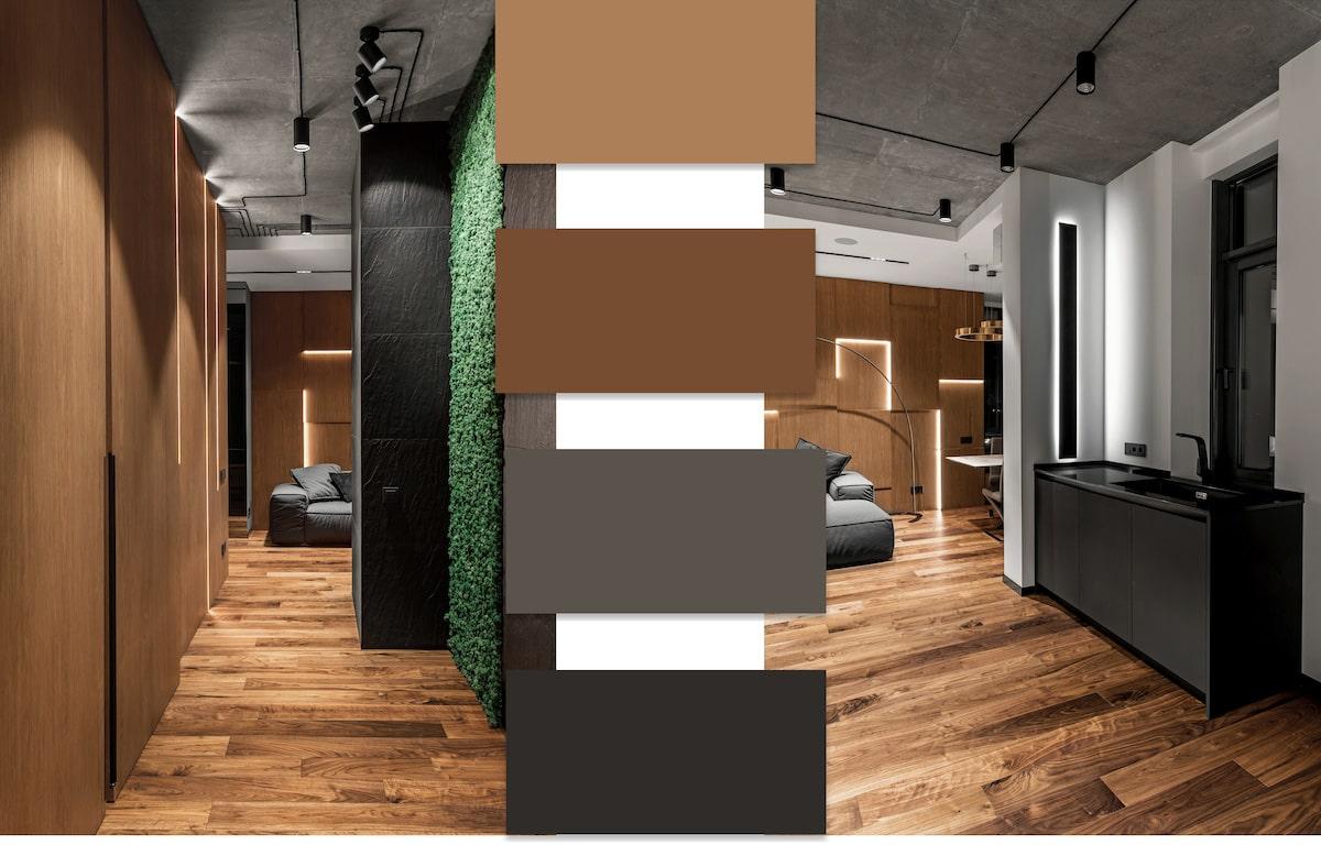 Природные мотивы в интерьере стильных апартаментов