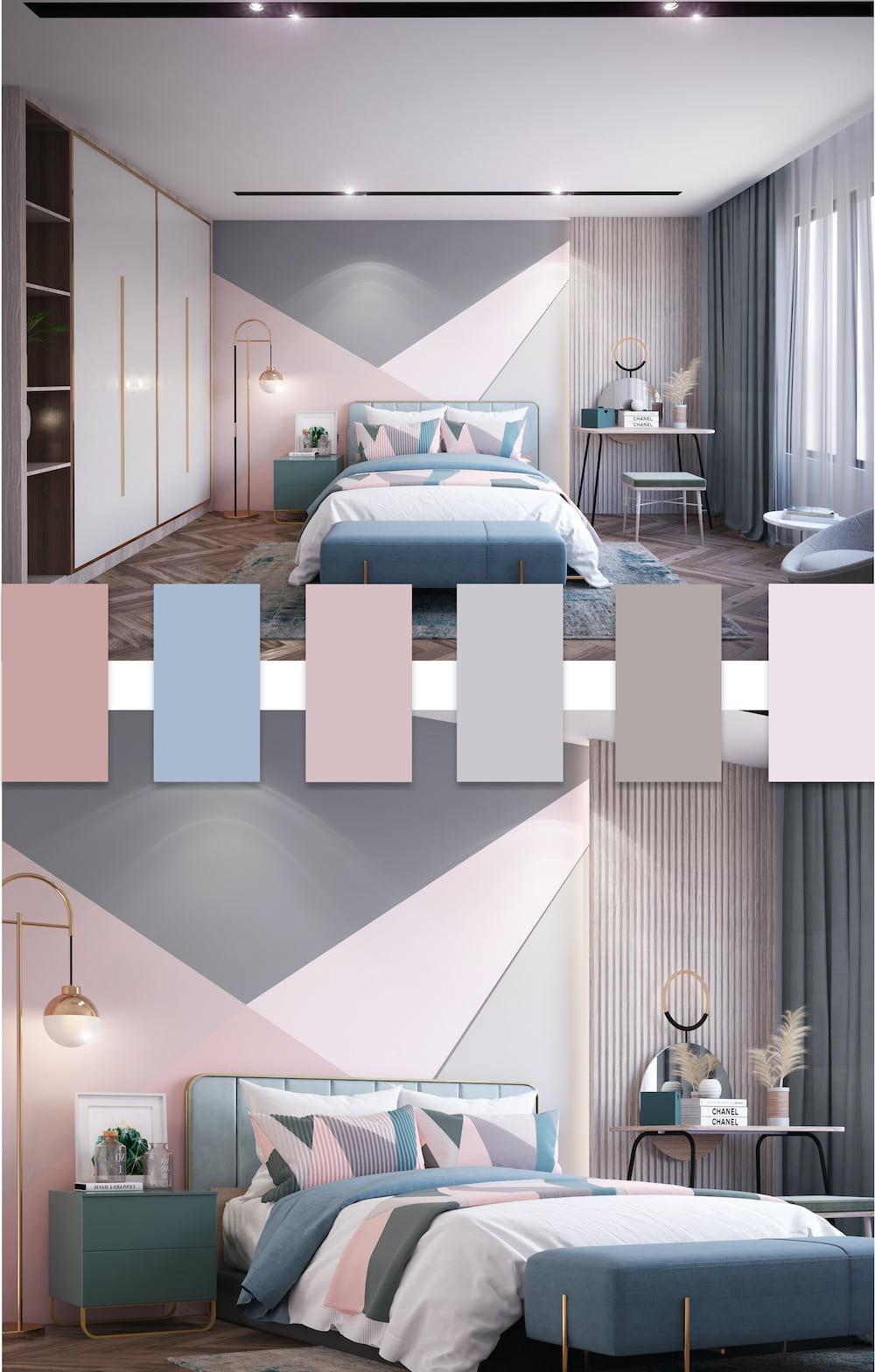Шикарная кровать подходящая по цвету и стилистике розовой спальне