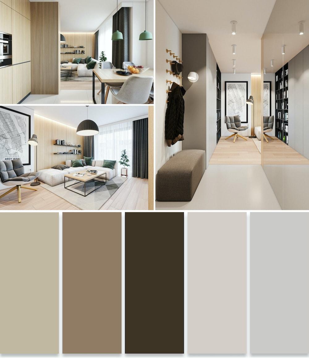 Искусство цветового оформления интерьера базируется на пропорциональности, соразмерности и визуальном комфорте