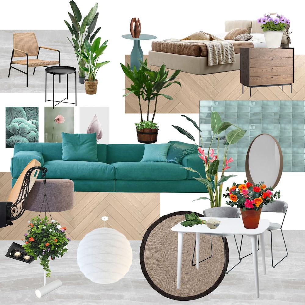 комнатные растения в интерьере фото 11