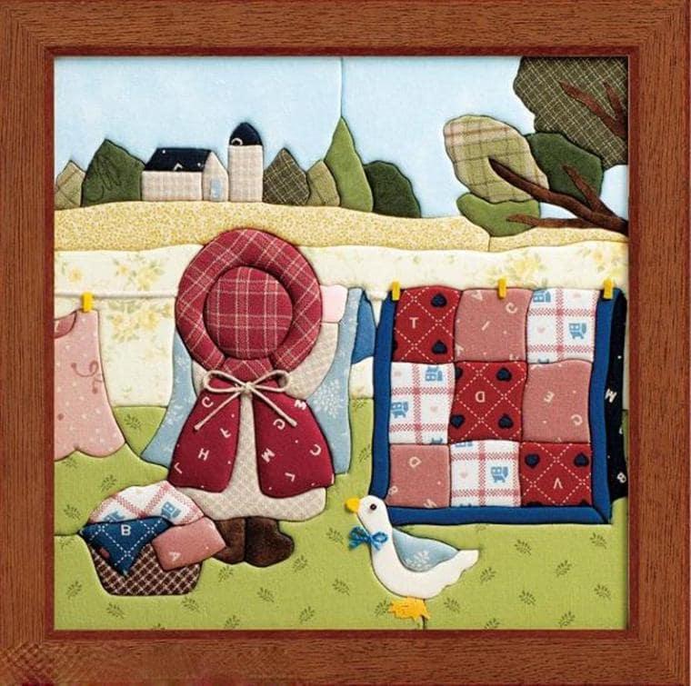 Из ткани можно создавать картины как с простыми, так и сложными сюжетами