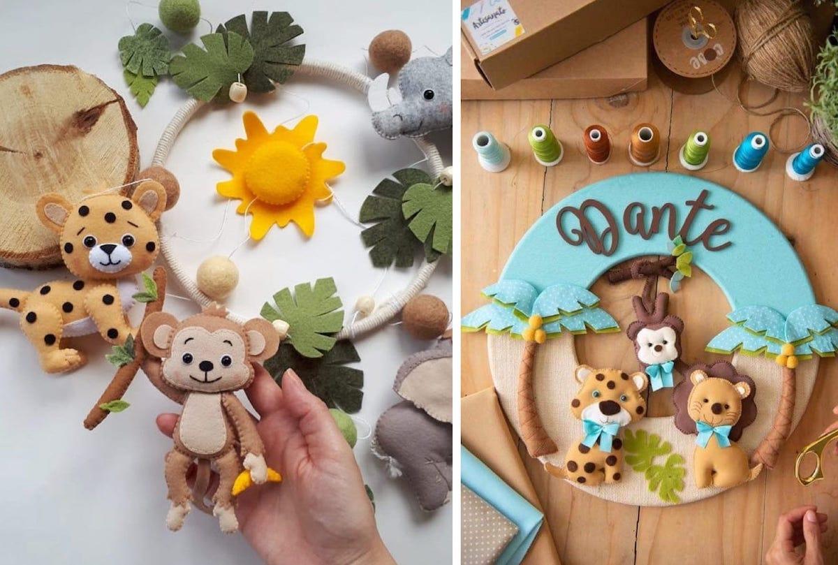 Для изготовления настенного панно, кроме игрушек можно использовать иные подручные материалы