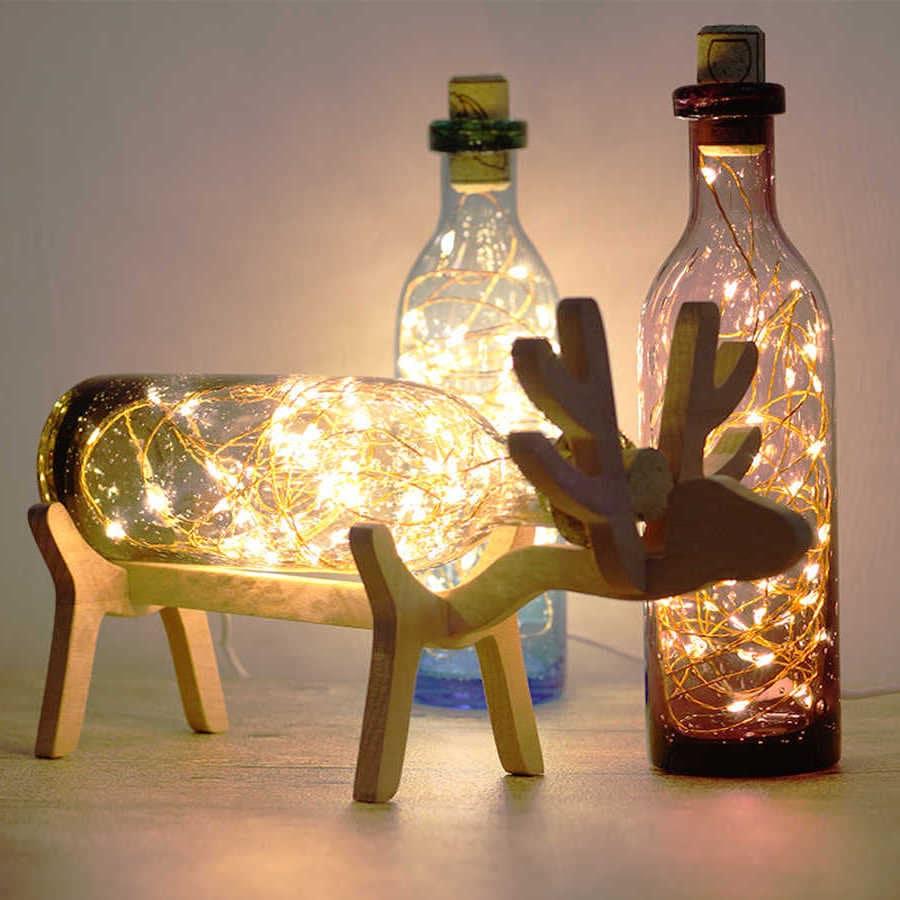 Удивительный по красоте ночник из стеклянной бутылки
