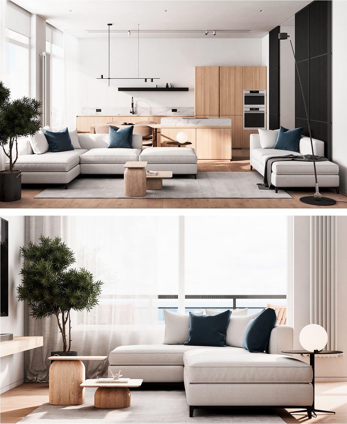 дизайн интерьера гостиной фото 17