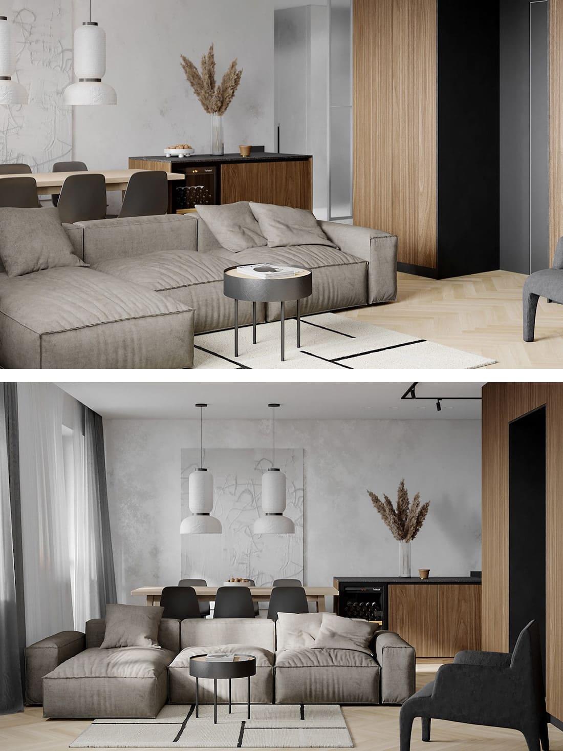 дизайн интерьера гостиной фото 30