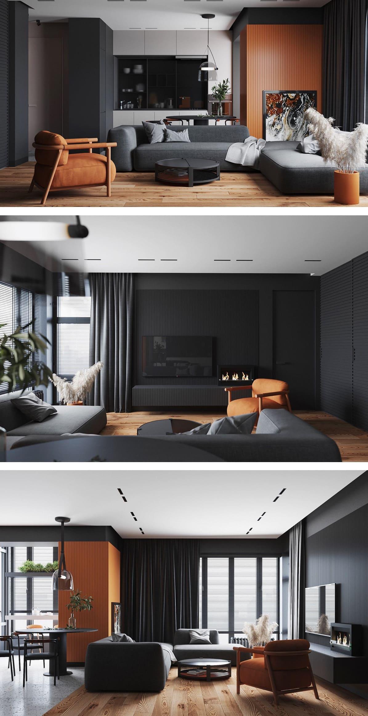 дизайн интерьера гостиной фото 26