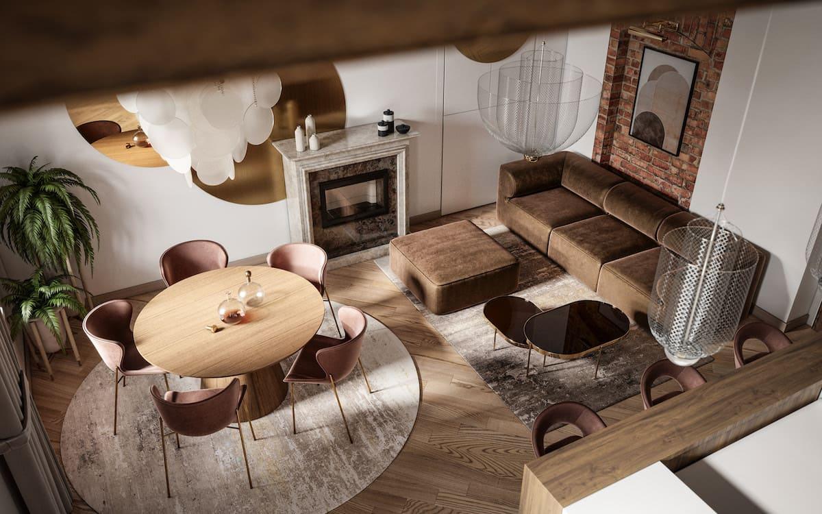дизайн интерьера гостиной фото 36