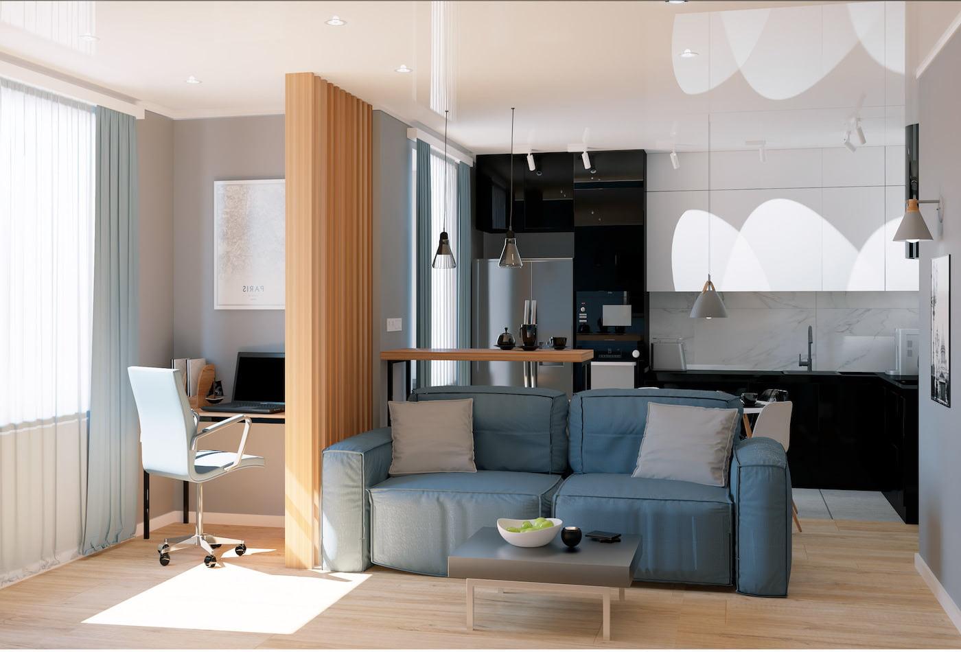 дизайн интерьера гостиной фото 42