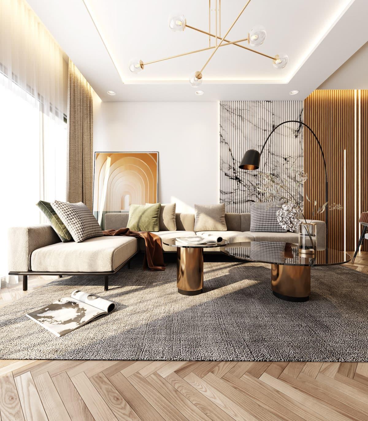 дизайн интерьера гостиной фото 1