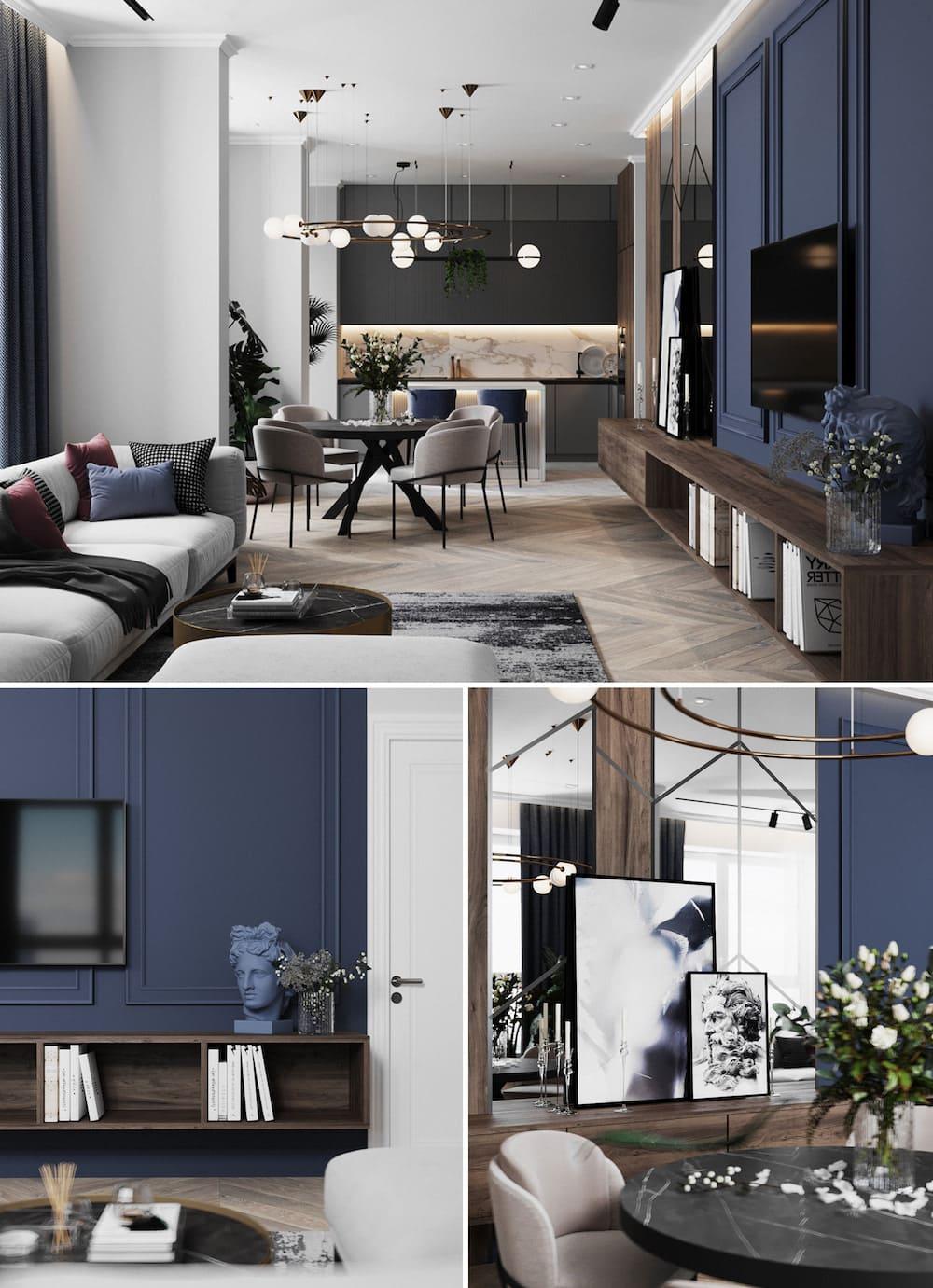 дизайн интерьера гостиной фото 9
