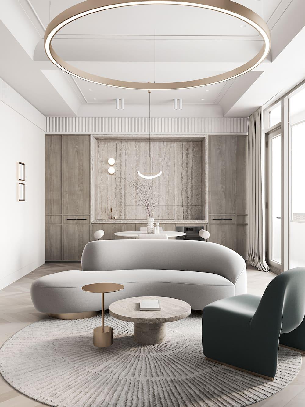 дизайн интерьера гостиной фото 6