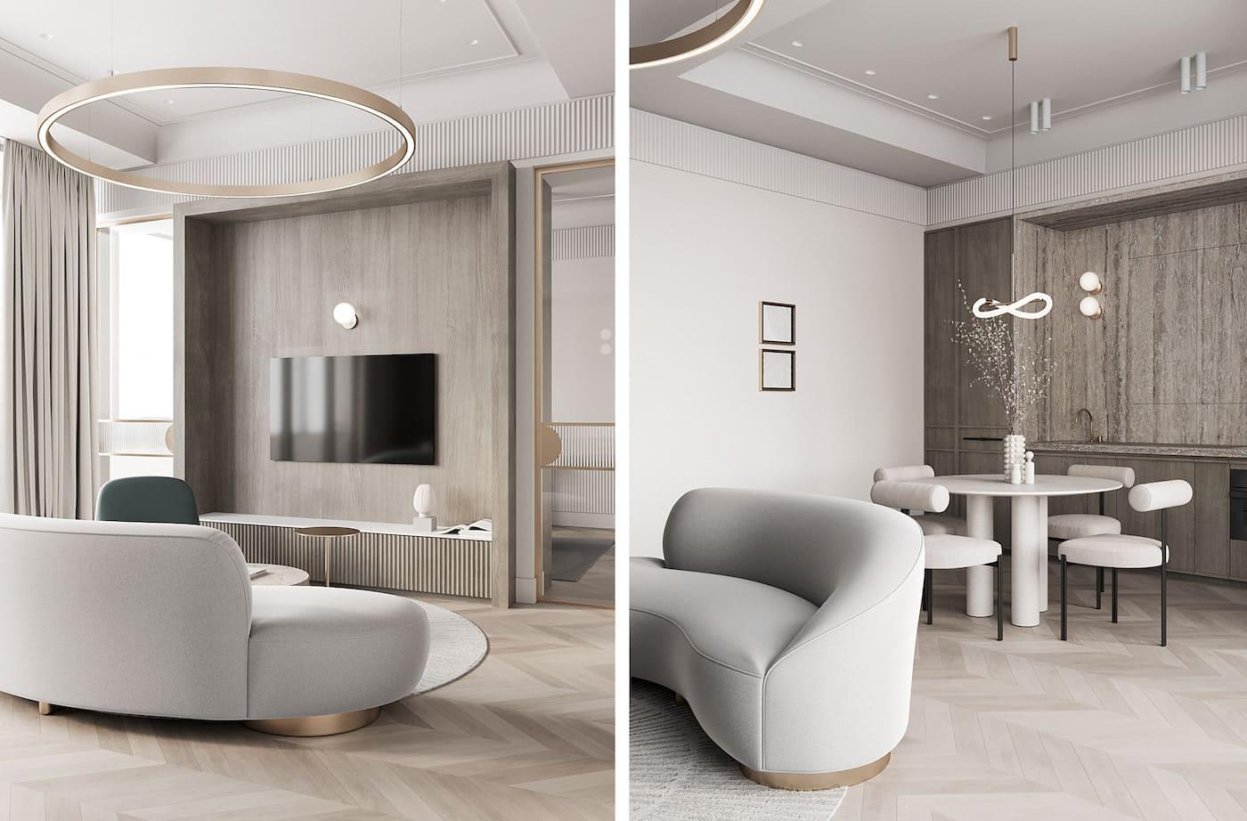 дизайн интерьера гостиной фото 8