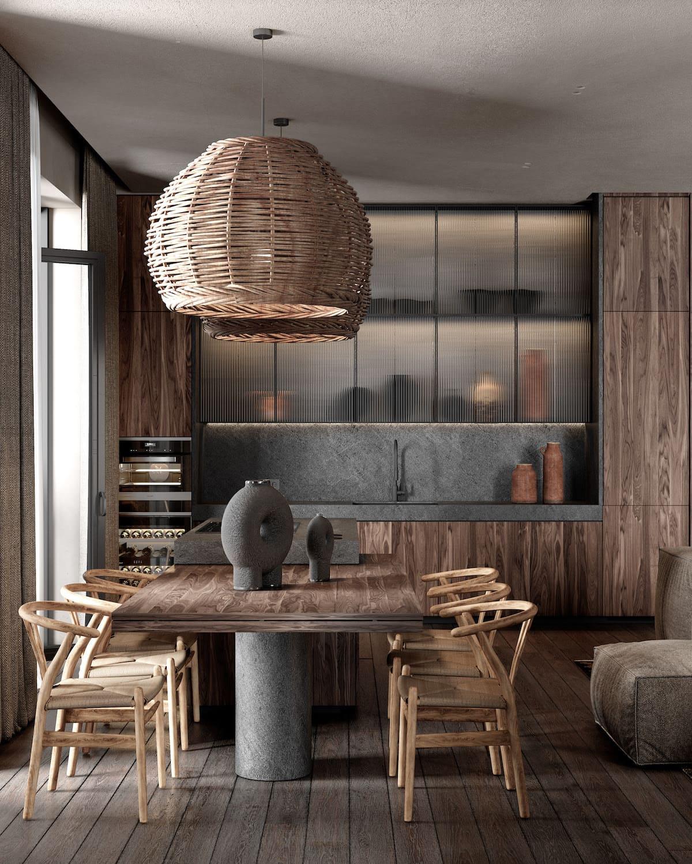 кухня в частно доме 1