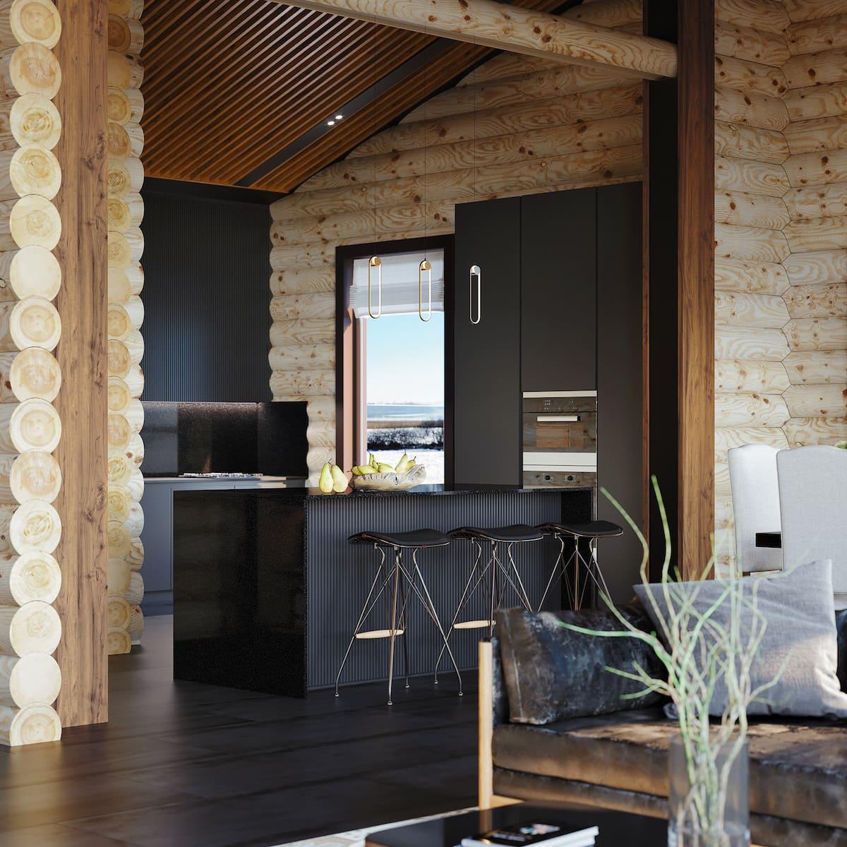 кухня в частном доме 18