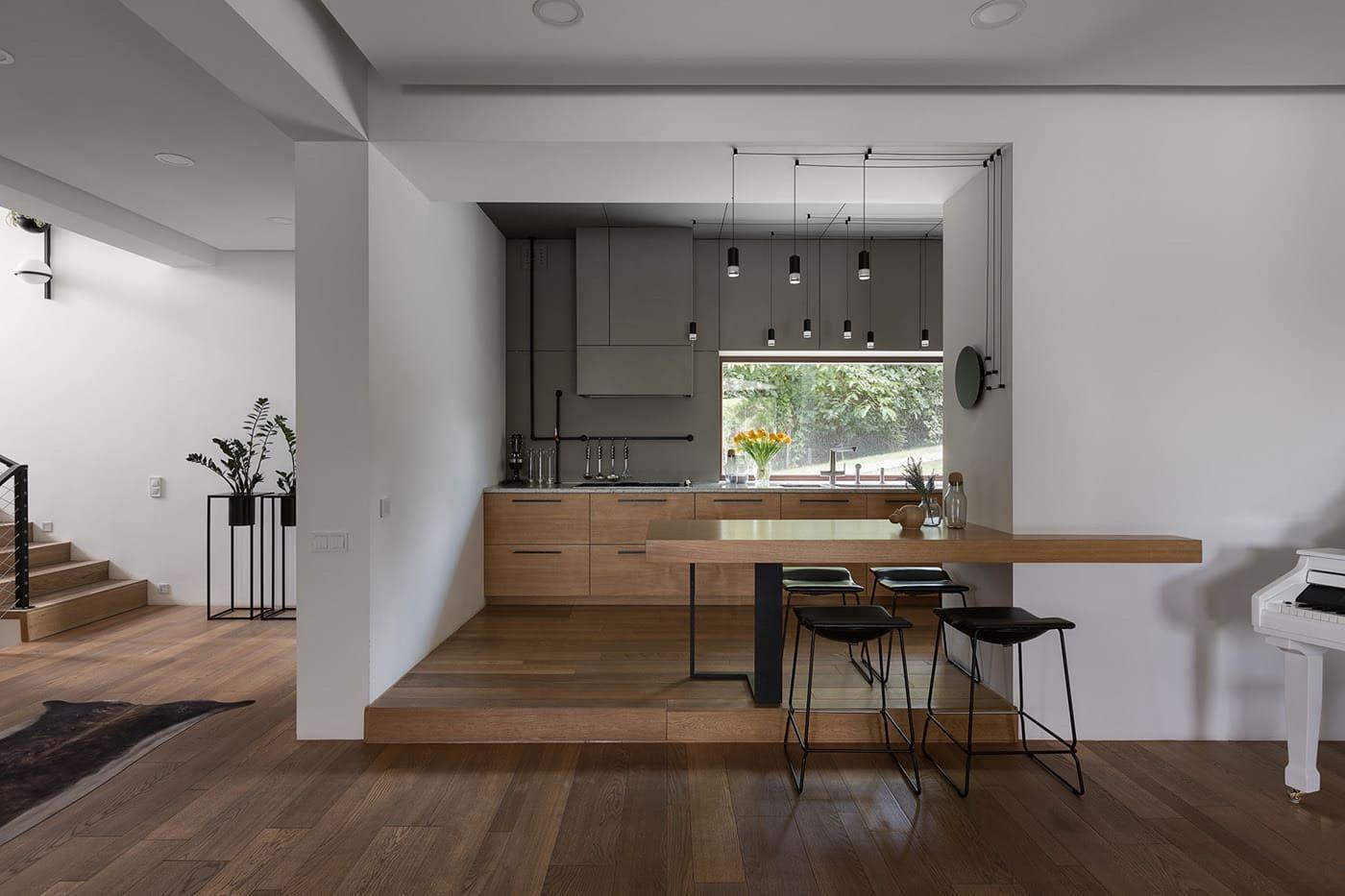 кухня в частном доме 23