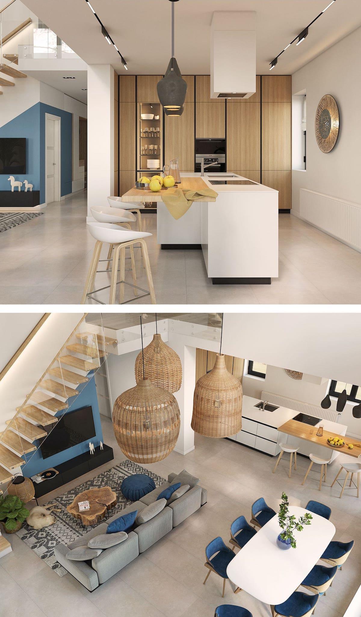 кухня в частном доме 24