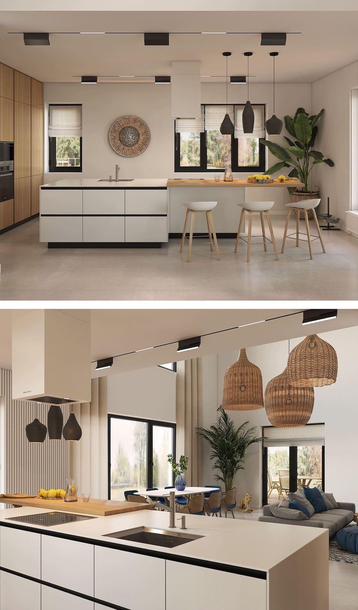 кухня в частном доме 25