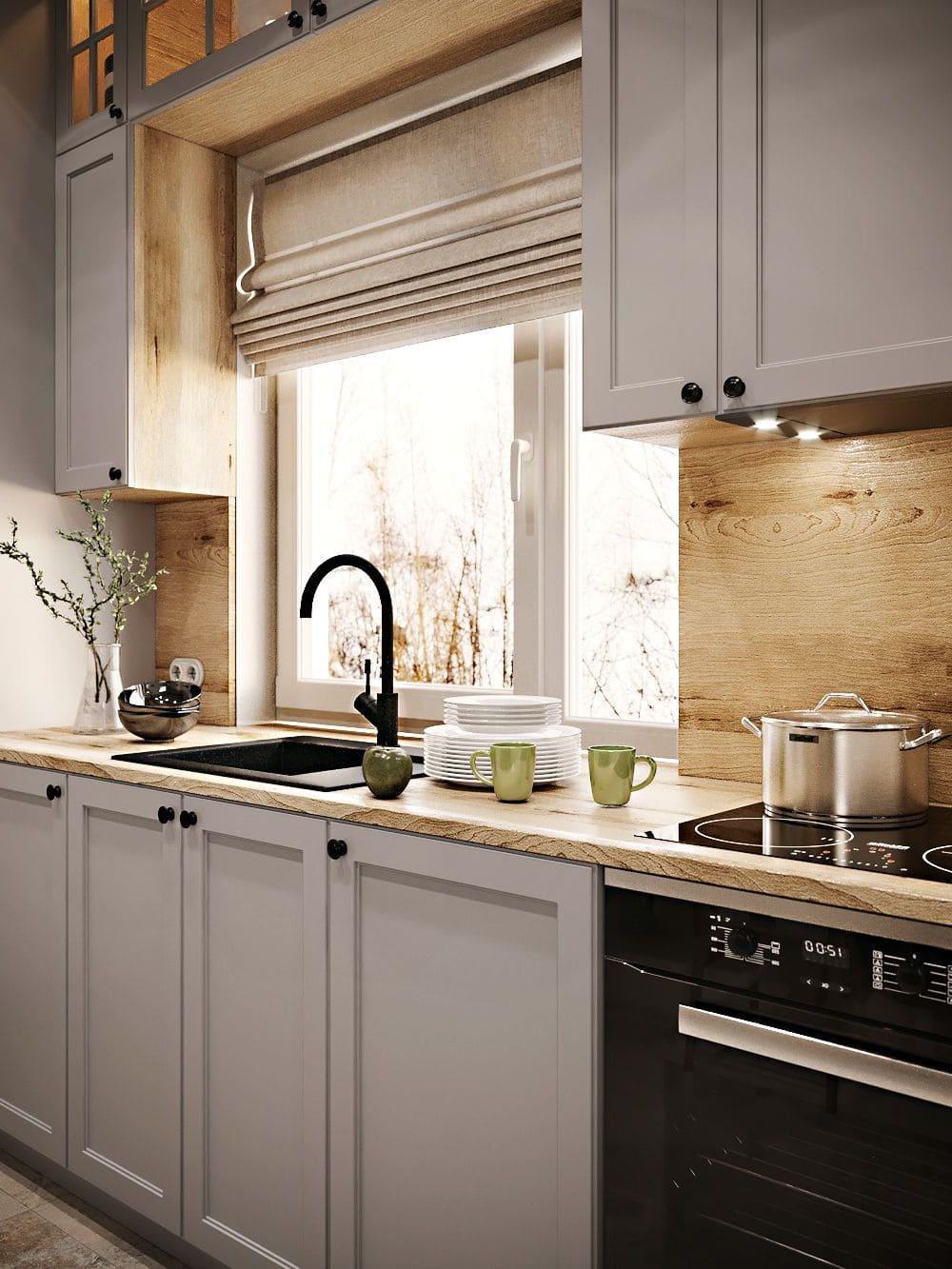кухня в частном доме 26