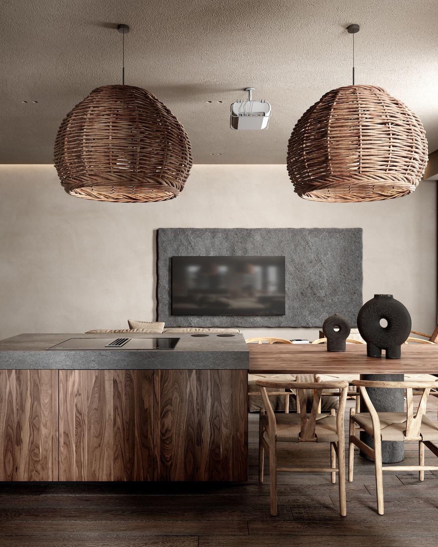 кухня в частно доме 2