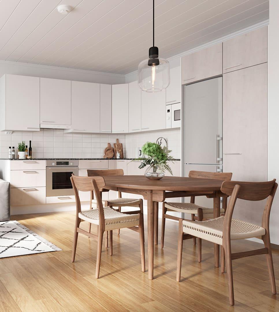 кухня в частном доме 31