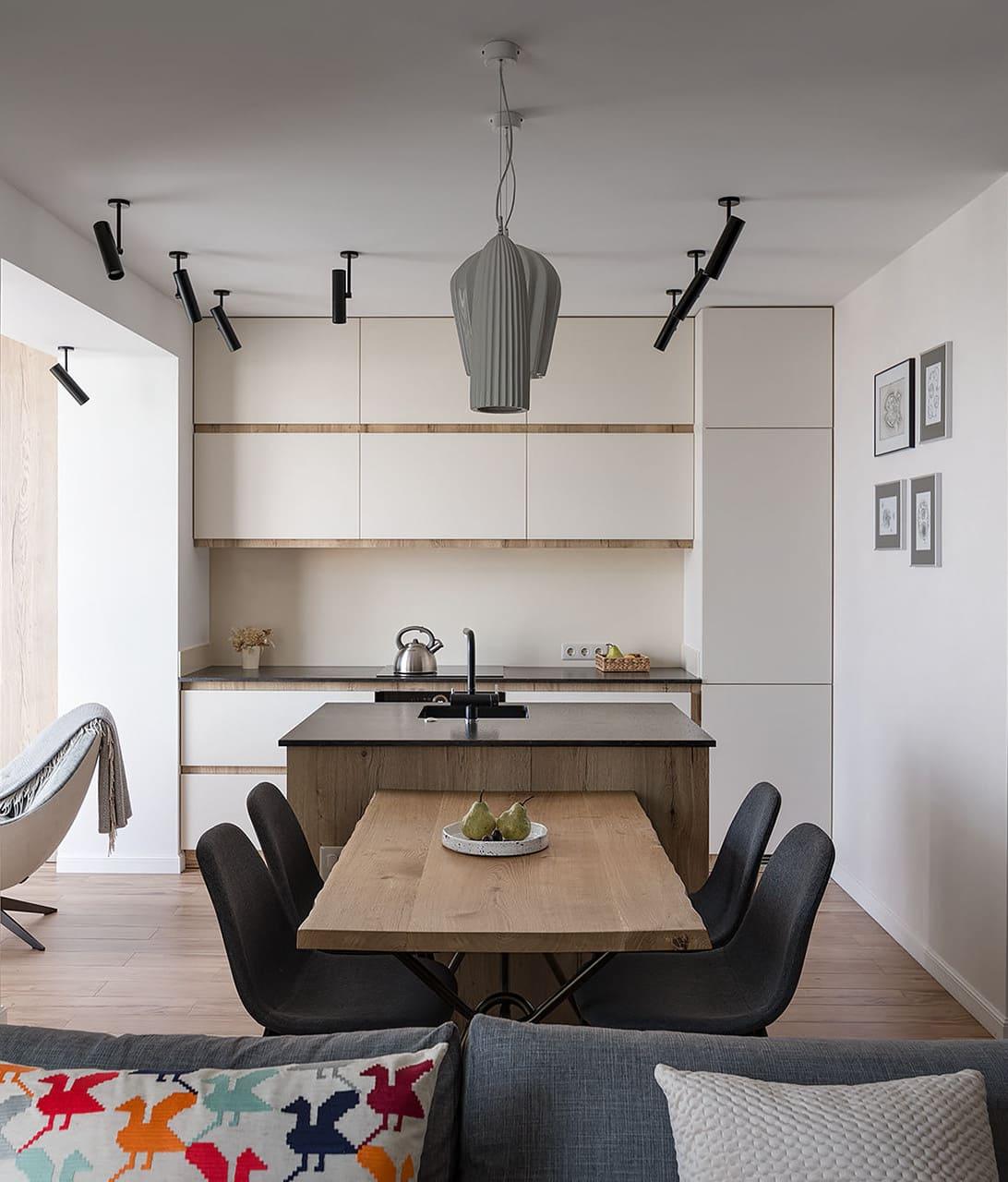 кухня в частном доме 32