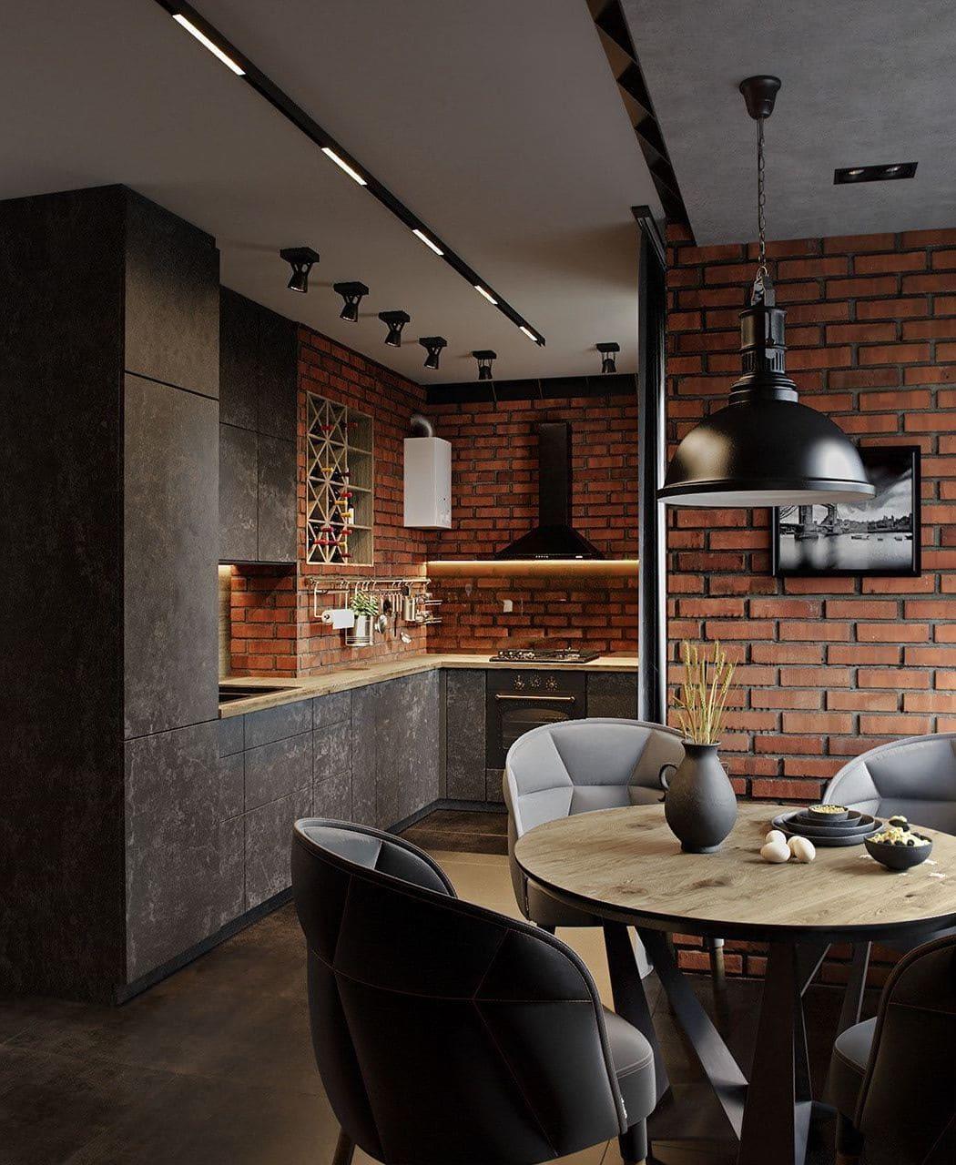 кухня в частном доме 39