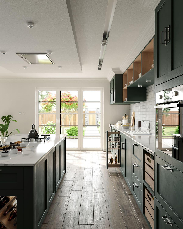 кухня в частном доме 41