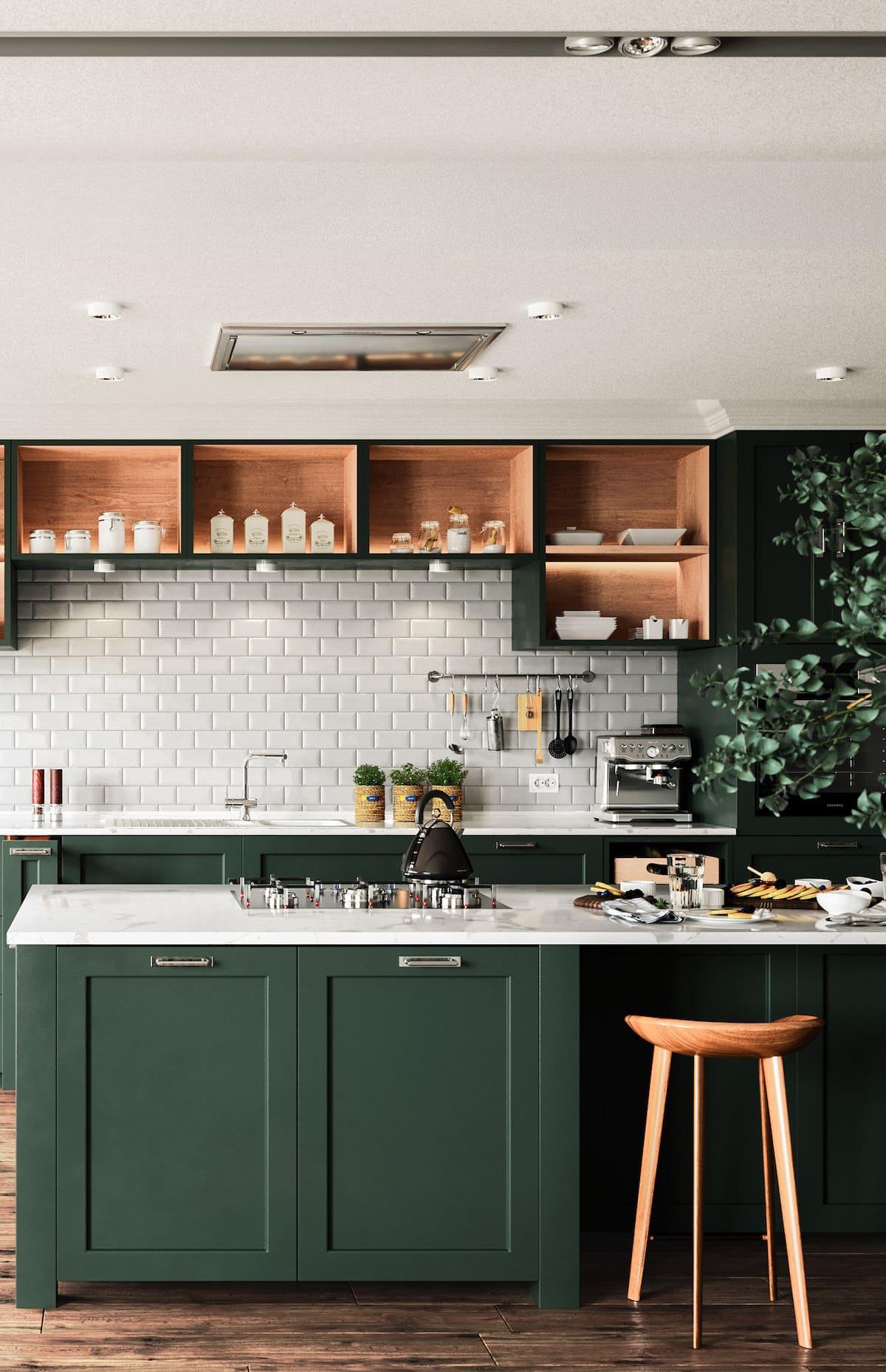 кухня в частном доме 42