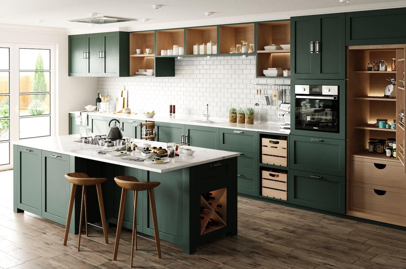 кухня в частном доме 43