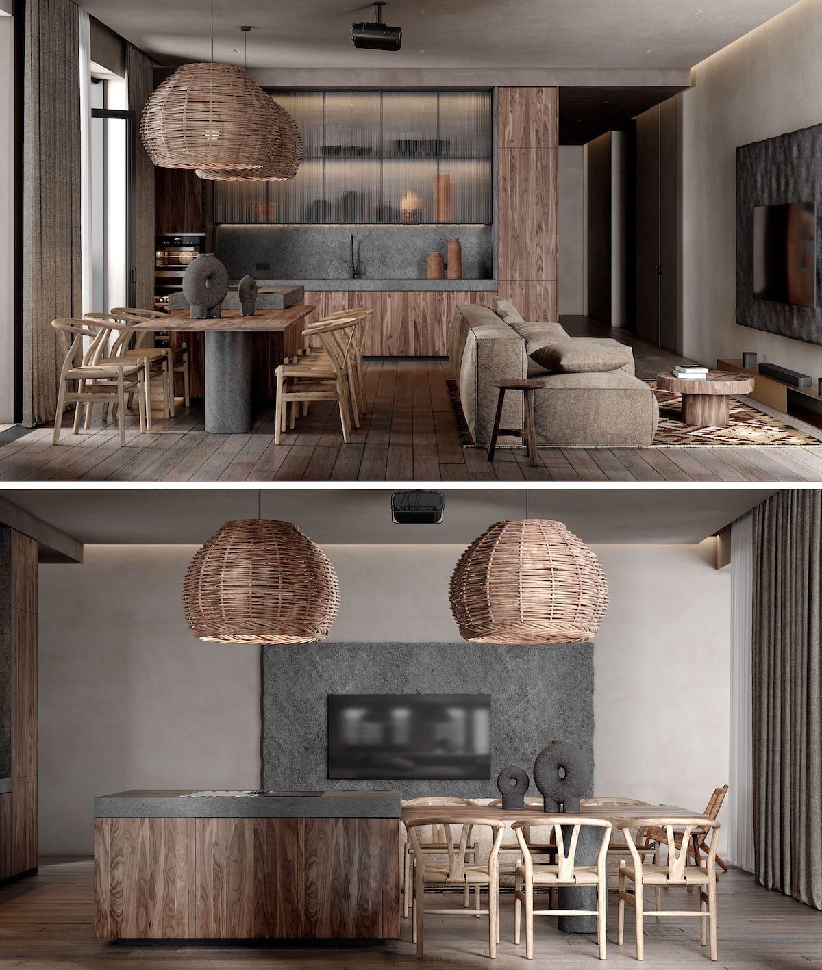 кухня в частно доме 3