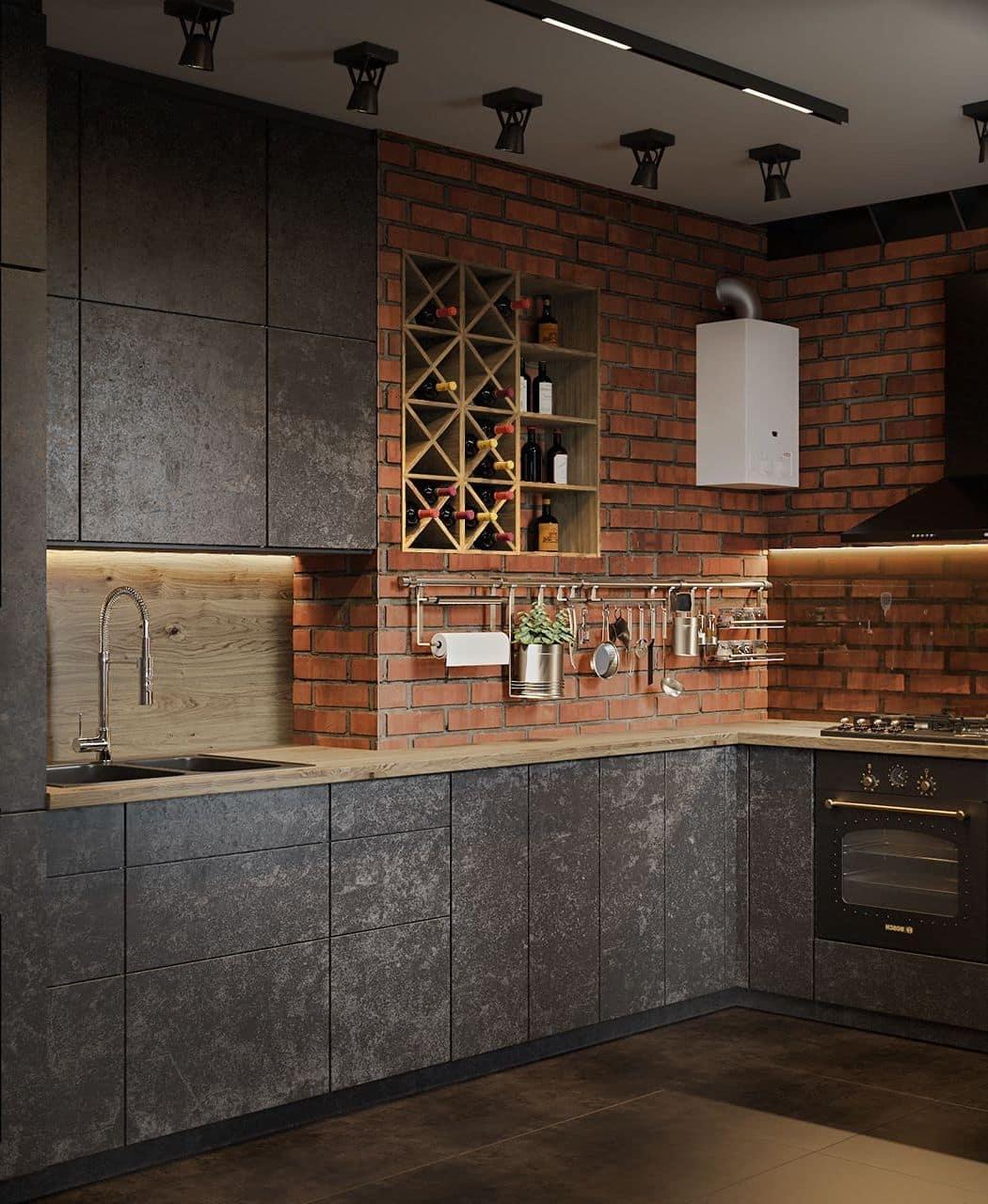 кухня в частном доме 46