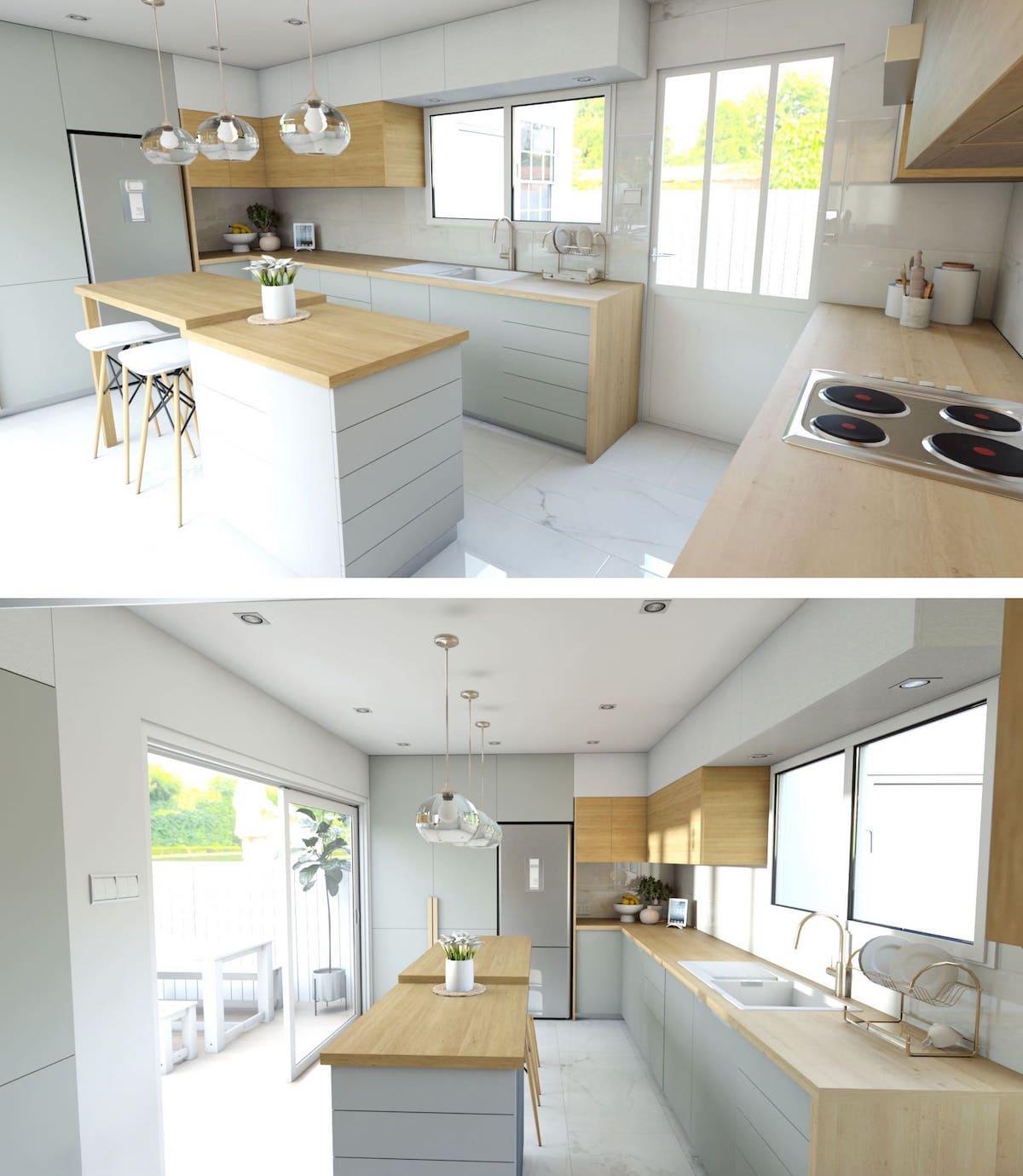кухня в частном доме 48
