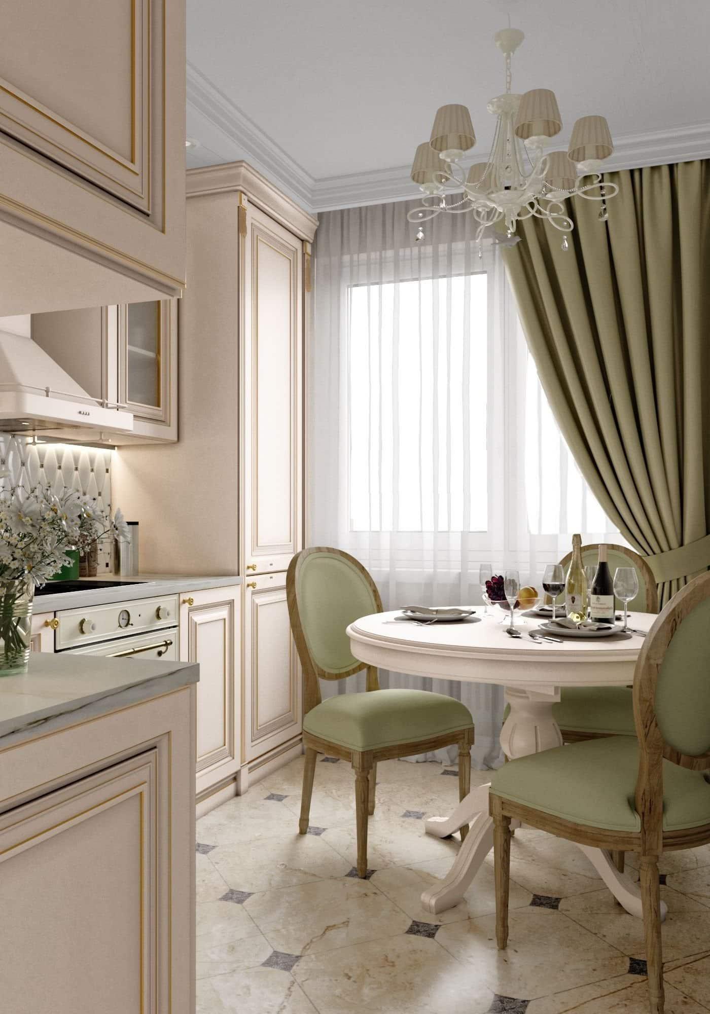 кухня в частном доме 50