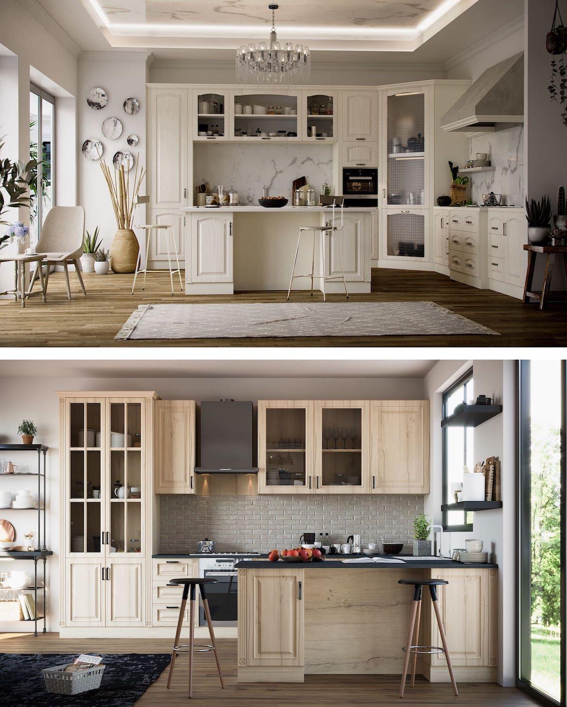 кухня в частном доме 51