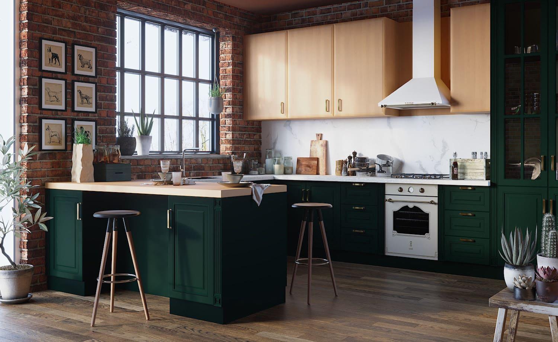 кухня в частном доме 52